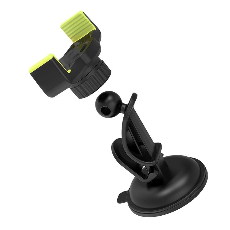 HOCO CA40 Refined suction cup base in-car dashboard phone holder black&yellow (auto držač za mobilni telefon