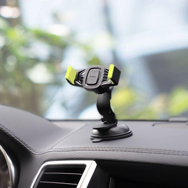 HOCO CA40 Refined suction cup base in-car dashboard phone holder black&yellow (auto držač za mobilni telefon