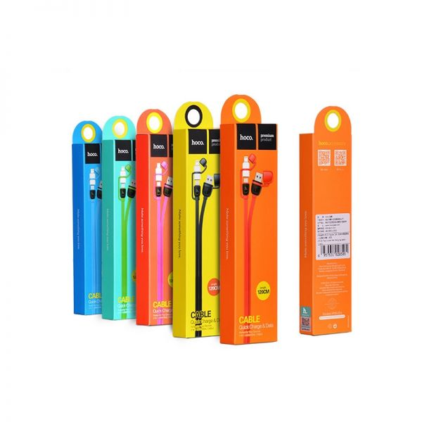 Hoco UPL21 Kabal 2u1 iPhone/Micro 120cm, plavi