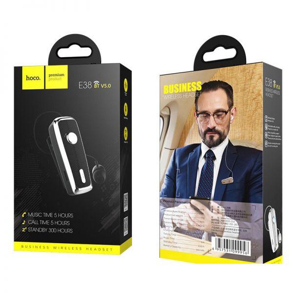 Hoco bluetooth wireless slušalice E38 Business sa mikrofonom crne