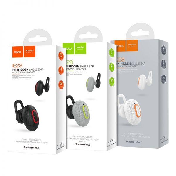 Hoco bluetooth wireless slušalice E28 Cool road crne