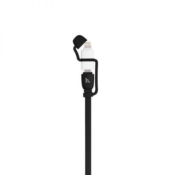 Hoco UPL21 Kabal 2u1 iPhone/Micro 120cm, crni