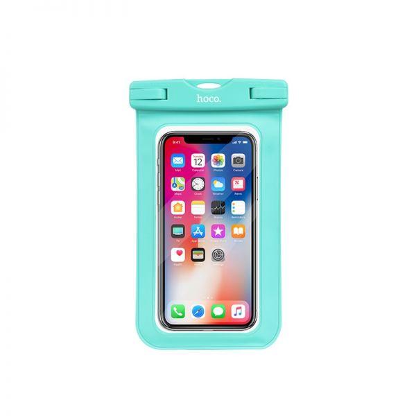 HOCO Precious jade waterproof case (Common) pink and green (vodootporna maska za telefon)
