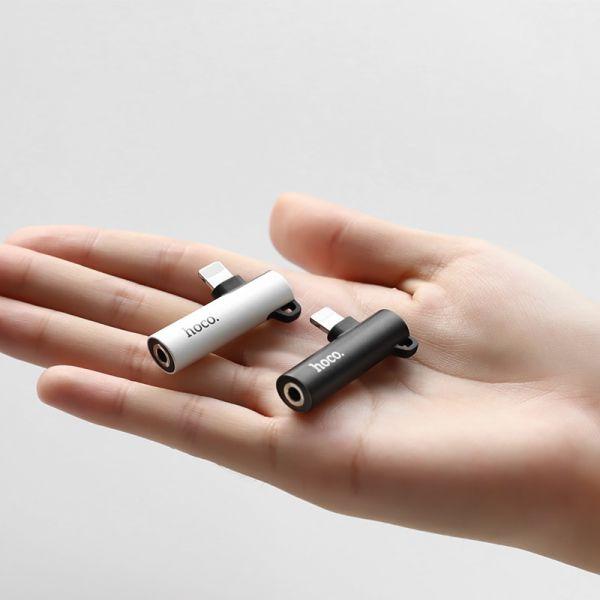 HOCO LS21 Lighting digital 3.5 audio converter silver