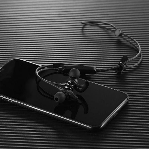 Hoco bluetooth wireless sportske slušalice ES22 Flaunt sa mikrofonom crne