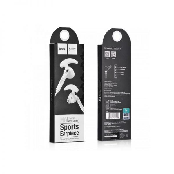 Hoco sportske slušalice M6 Universal sa mikrofonom bele
