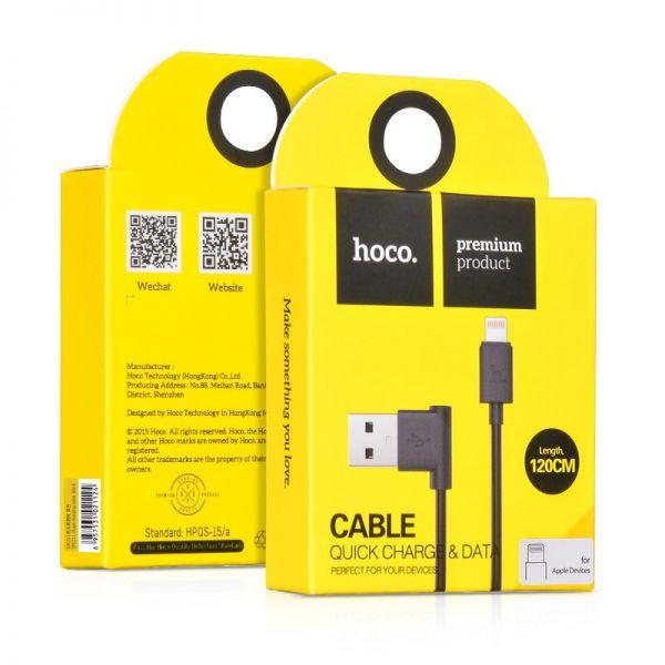 Hoco UPL11 USB Kabal L za iPhone 5/5s/5c/SE/6/6s/6Plus/6sPlus, crni