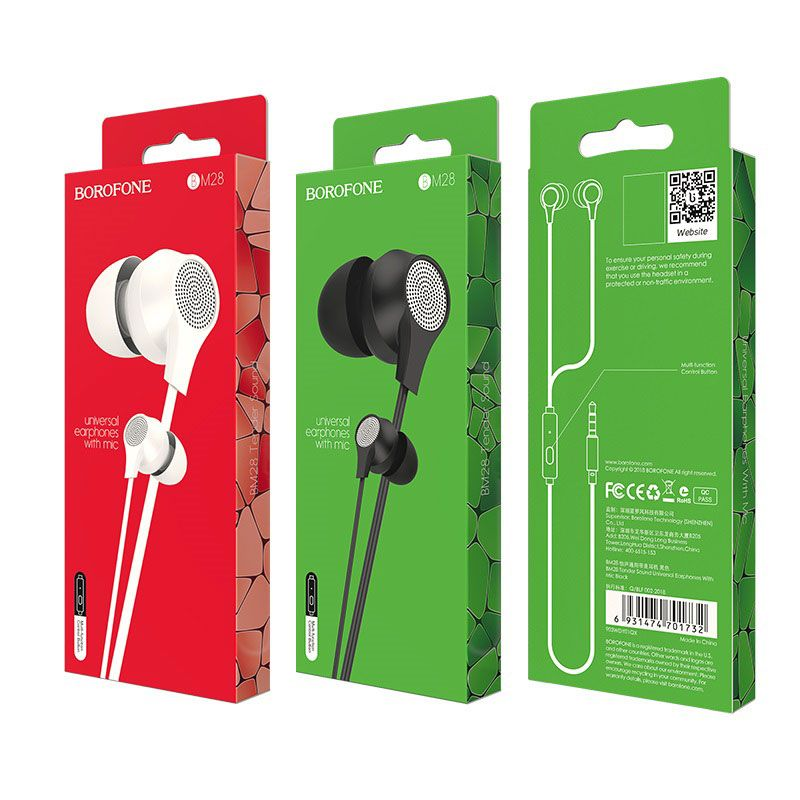 BOROFON BM28 Tender Sound Universal Earphones With Mic