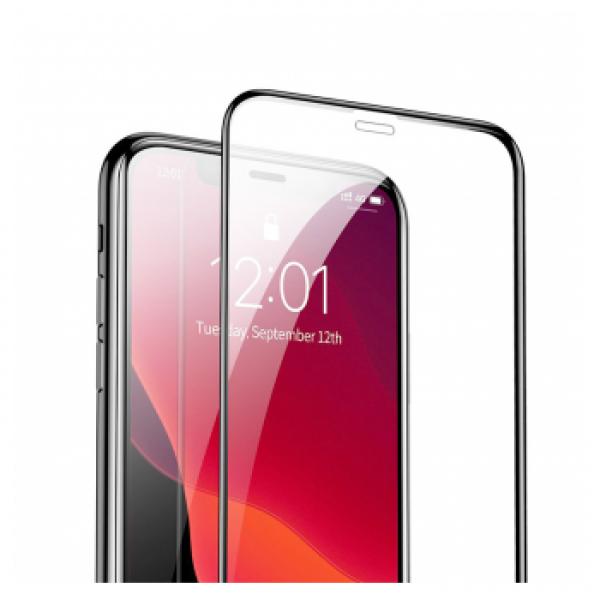 BASEUS 5D TEMPERED GLASS PET SOFT 0.23MM IPHONE XS MAX/11 PRO MAX CRNO