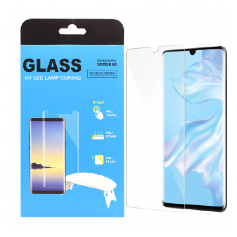 Zastitno staklo UV Glue Full Cover Huawei P30 Lite.