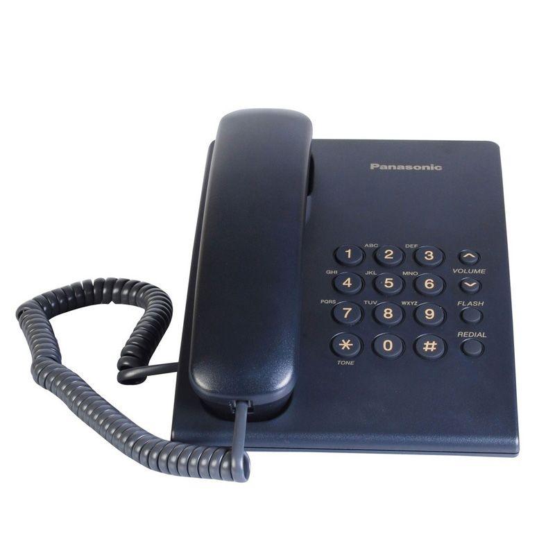 Žični telefon Panasonic KX-TS500FXC, plavi