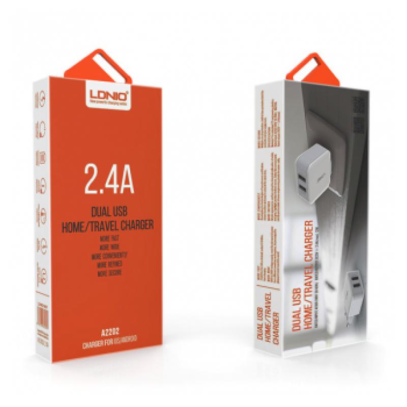 KUCNI PUNJAC LDNIO A2202 DUAL USB (2X2,4A)