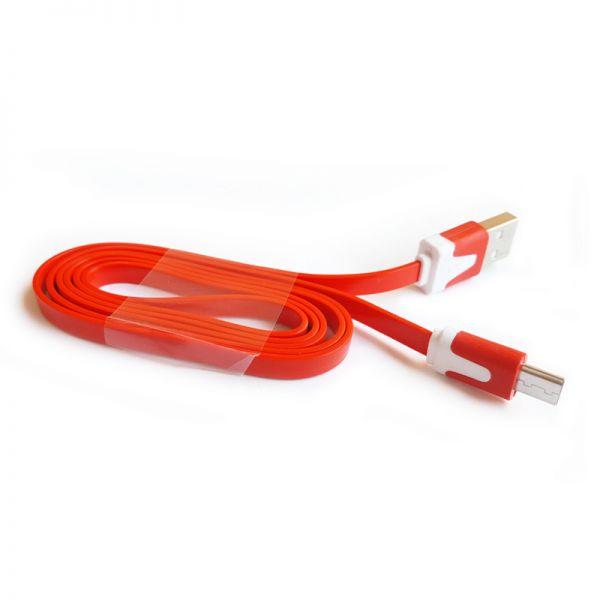 Micro USB kabal flat TPNM, crveni