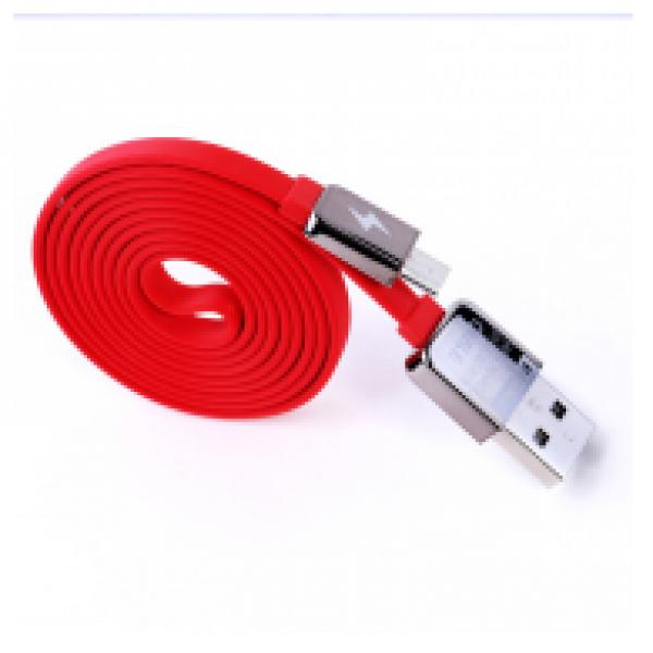 DATA KABEL REMAX FLAT KING KONG MICRO USB CRVENI 1M