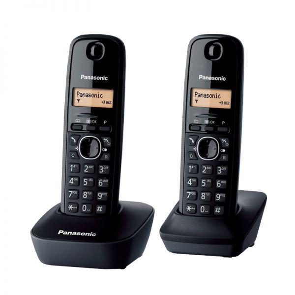 Bežični telefon Panasonic KX-TG1612, crni