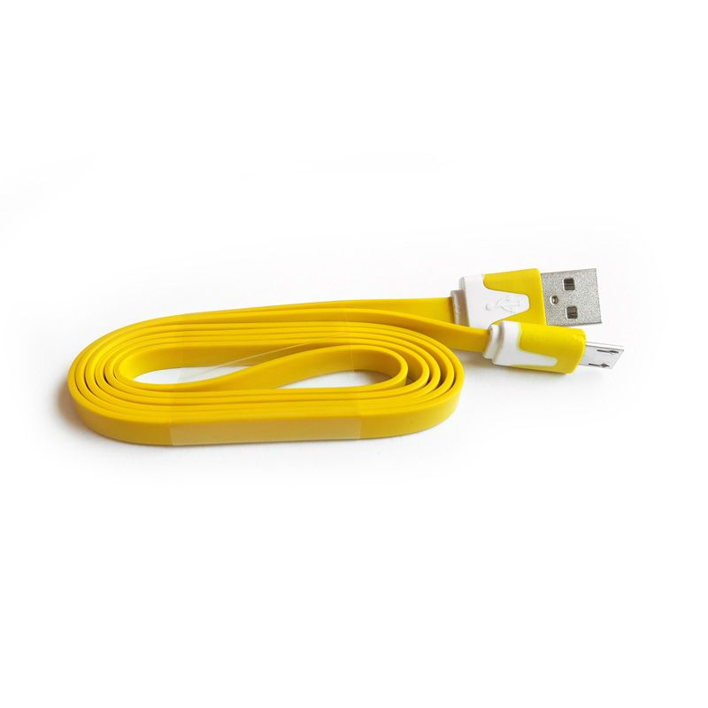 Micro USB kabal flat TPNM, žuti