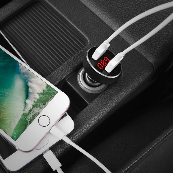 HOCO Car charger «Z26 High praise» digital display dual USB