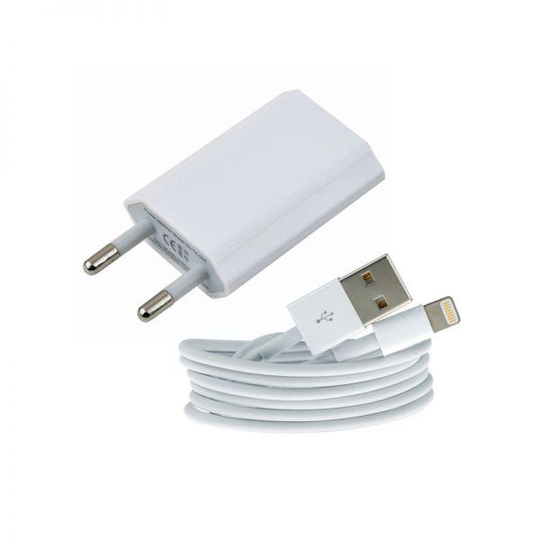 Kućni punjač 2u1 za iPhone 5/5s/5c/SE/6/6s/6+/6s+ TPNM beli