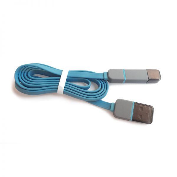 Kabal flat 2u1 Micro USB/iPhone 5 sa poklopcem TPNM, plavi