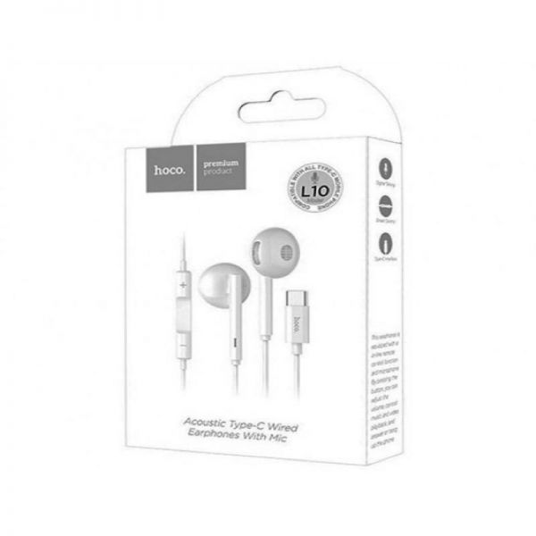 HOCO L10 Acoustic Type-C wired earphones with microphone