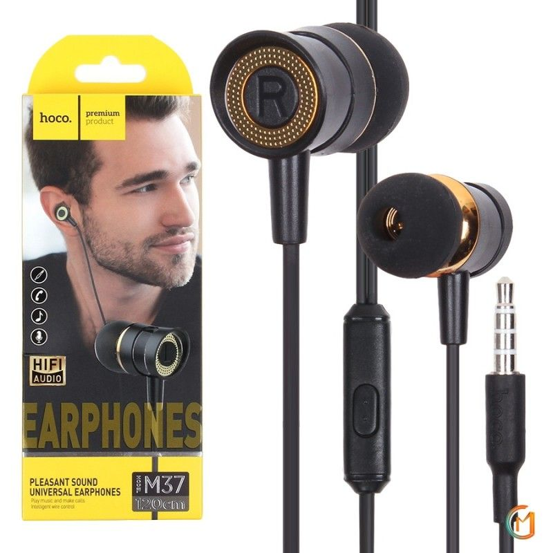 HOCO M37 pleasant sound universal earphones with microphone
