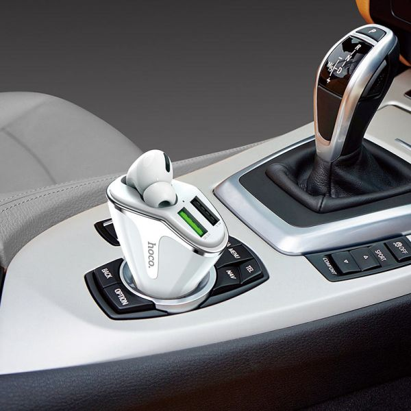 "HOCO Car charger ""E47 Pro Traveller"" with wireless headset"