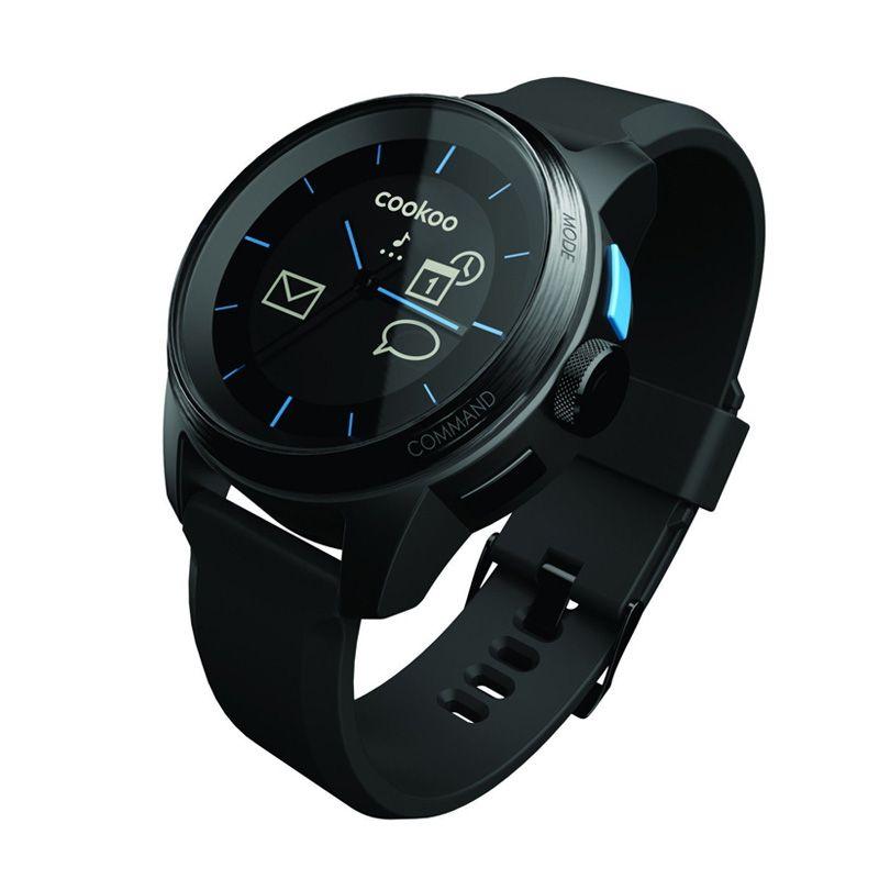 Cookoo pametan sat smart watch, crno crni