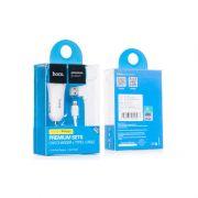 Hoco set UC204 Auto Punjač dual USB i kabl za iPhone 5/5s/5c/SE/6/6s/6+/6s+ beli