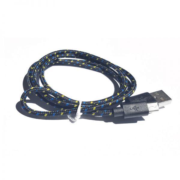 Kabal TPNM Micro USB pleteni, crno-žuti