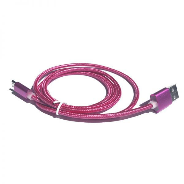 Kabal TPNM Micro USB metal pleteni, pink
