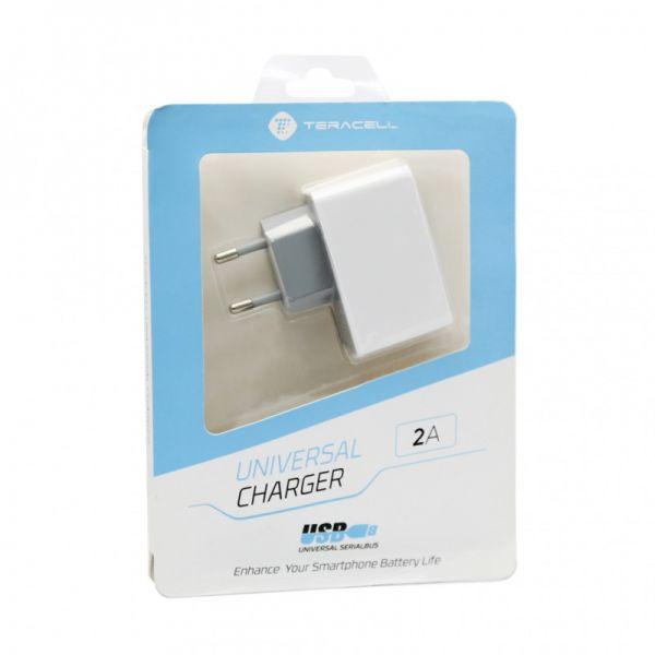 Kućni punjač za iPhone 5/5s/5c/SE/6/6s/6+/6s+ 2xUSB  2A, beli