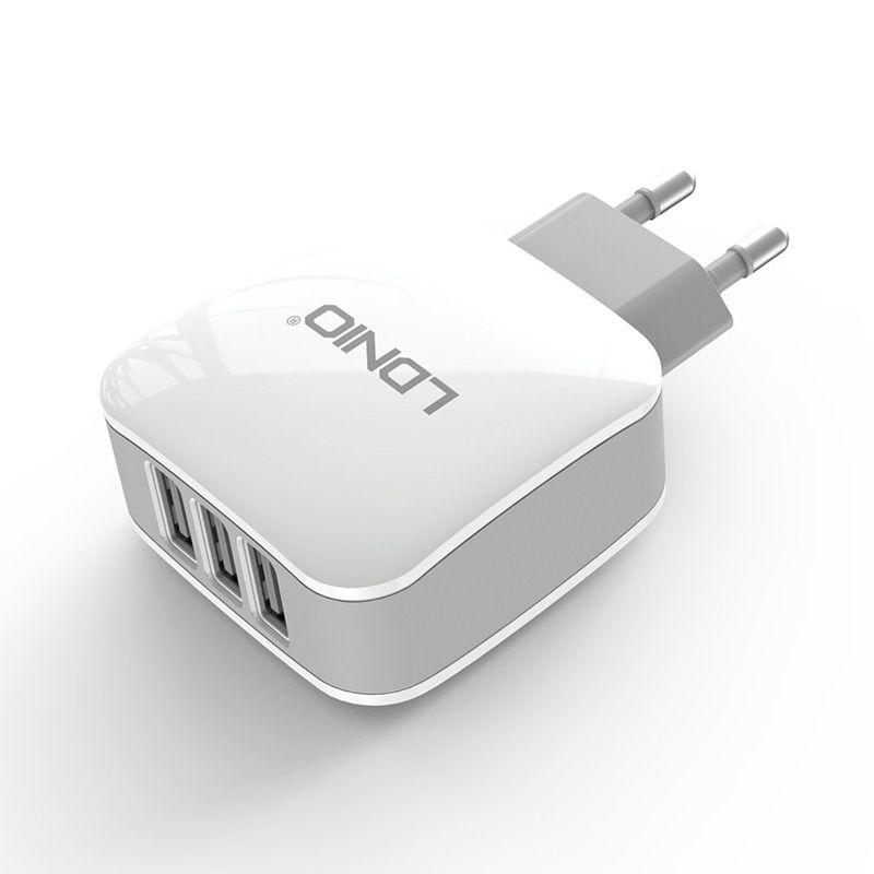 Kućni pujač Ldnio DL-AC70 Micro USB 3XUSB 3.4A, beli