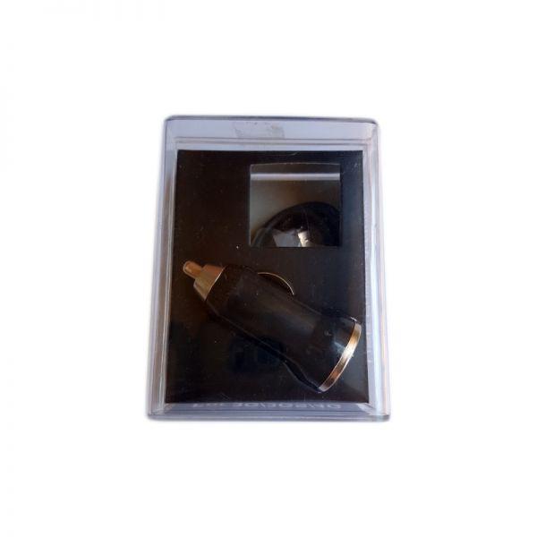 Auto punjač 2u1 za iPhone 3/4/4s, crni