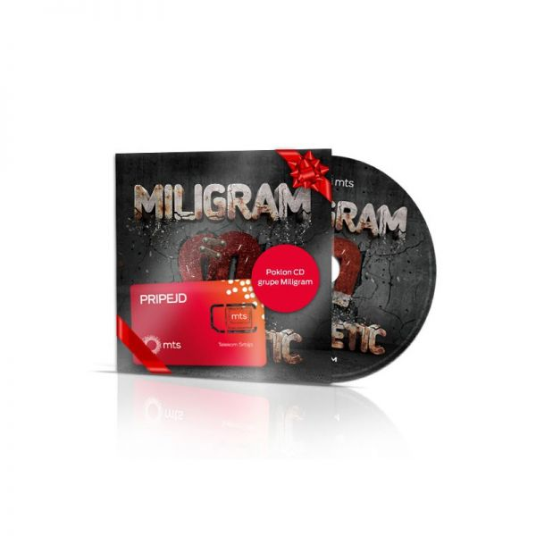 "Pripejd Mts Miligram - mts pripejd kartica i poklon CD ""Magnetic"""