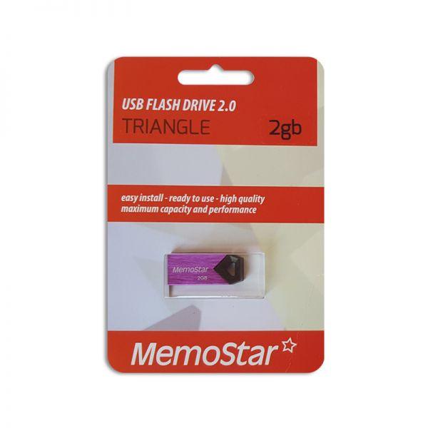 Usb Flash disk Memostar 2GB Triangle, ljubičasti