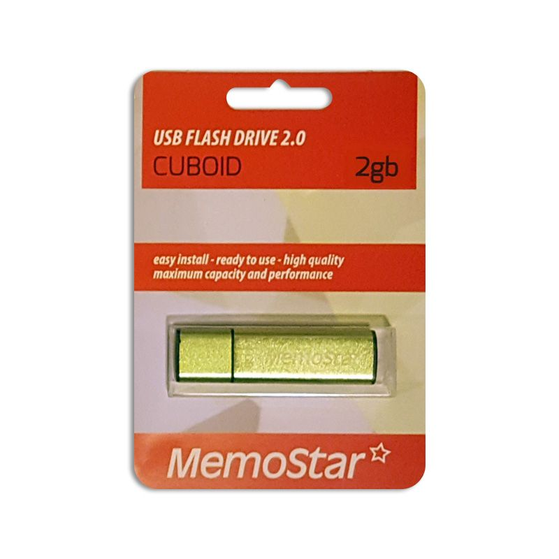 Usb Flash disk Memostar Cuboid 2GB, zeleni