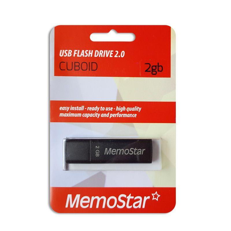 Usb Flash disk Memostar Cuboid 2Gb, crni