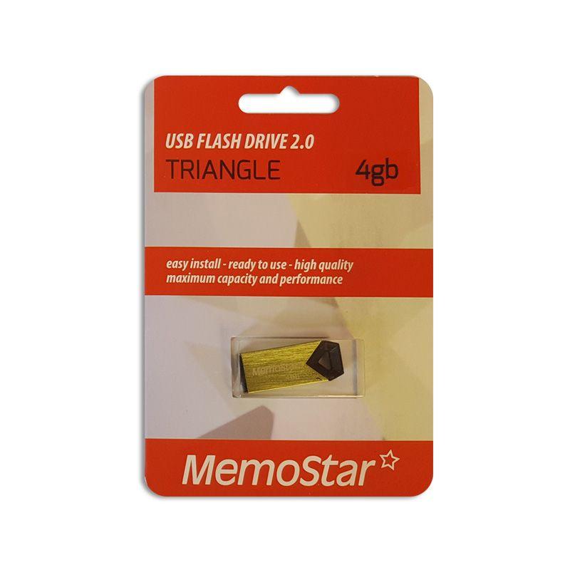 Usb flash disk Memostar Triangle 4GB, zeleni