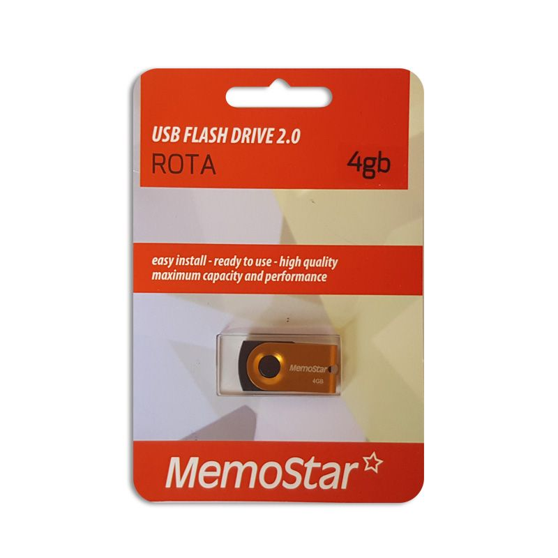 Usb Flash disk Memostar Rota 4Gb, narandžasti
