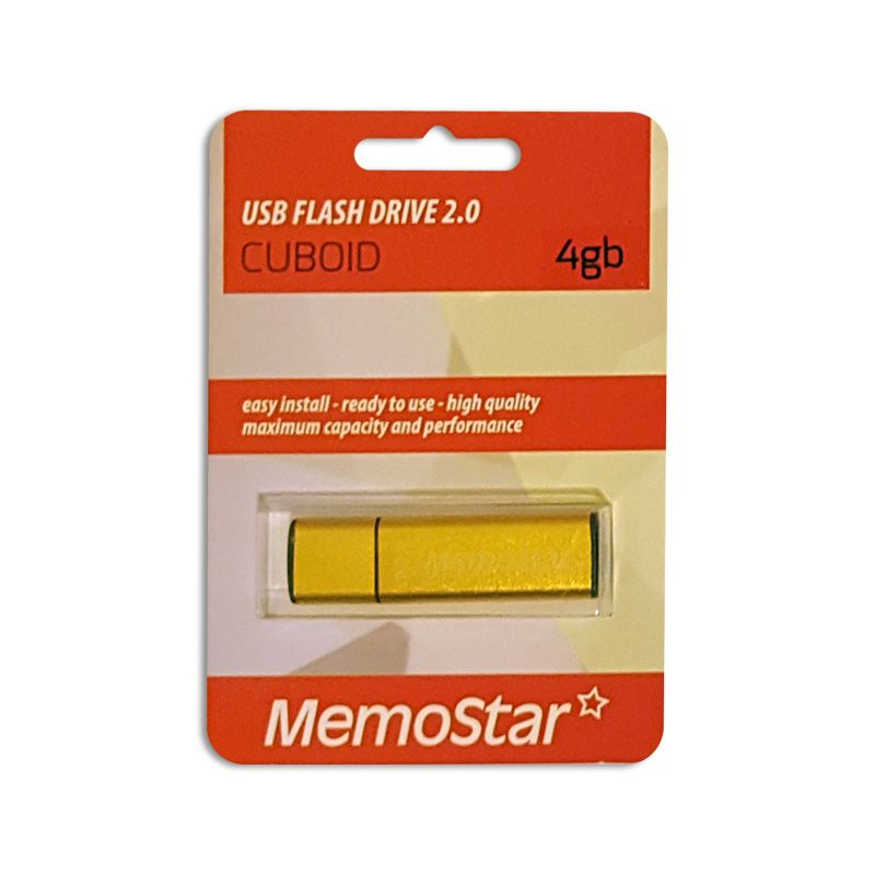 Usb Flash disk Memostar Cuboid 4GB, zlatni