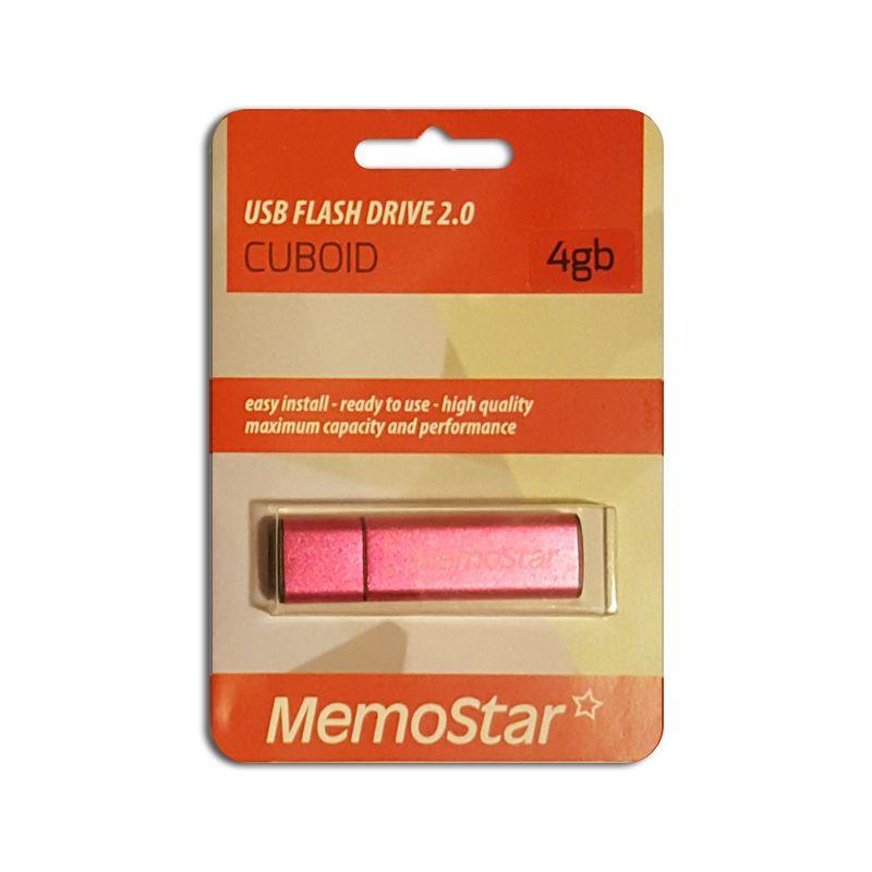 Usb Flash disk Memostar Cuboid 4GB, pink