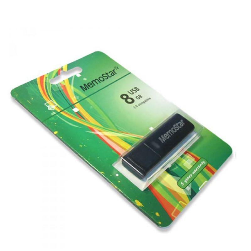 Usb Flash disk Memostar Cuboid 8GB, crni