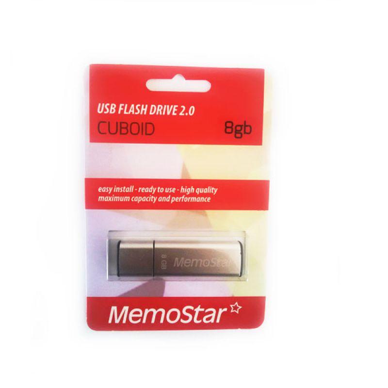 Usb Flash disk Memostar Cuboid 8GB, srebrni