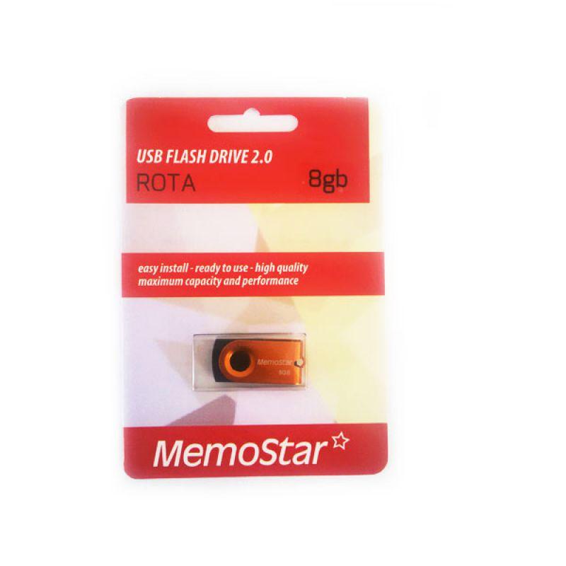 Usb Flash disk Memostar Rota 8GB, narandzasti