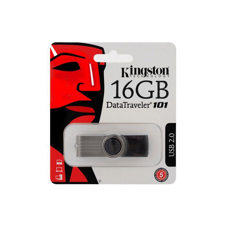 Usb Flash disk Kingston Data Traveler 101 G2 16Gb, crni metalik