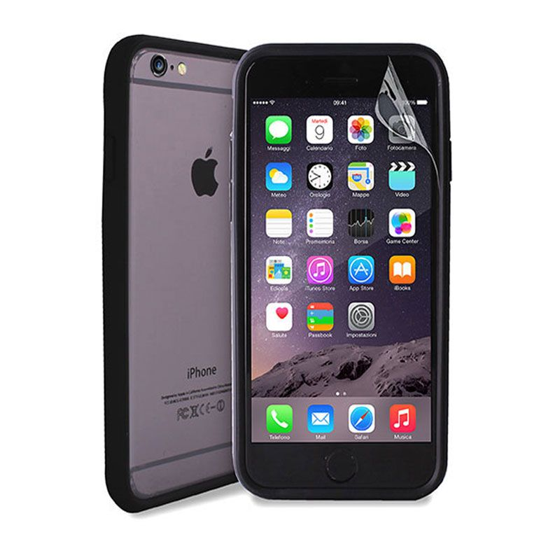 Futrola Puro Bumper frame soft iPhone 6/6s, crna
