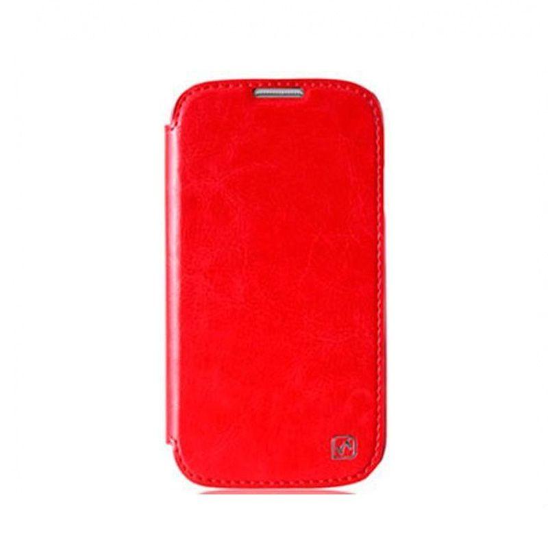 Hoco I futrola na preklop za Samsung galaxy i9500 S4, crvena