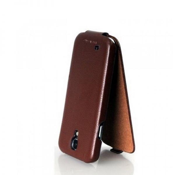 Hoco I Futrola flip top za Samsung galaxy i9500 S4, braon