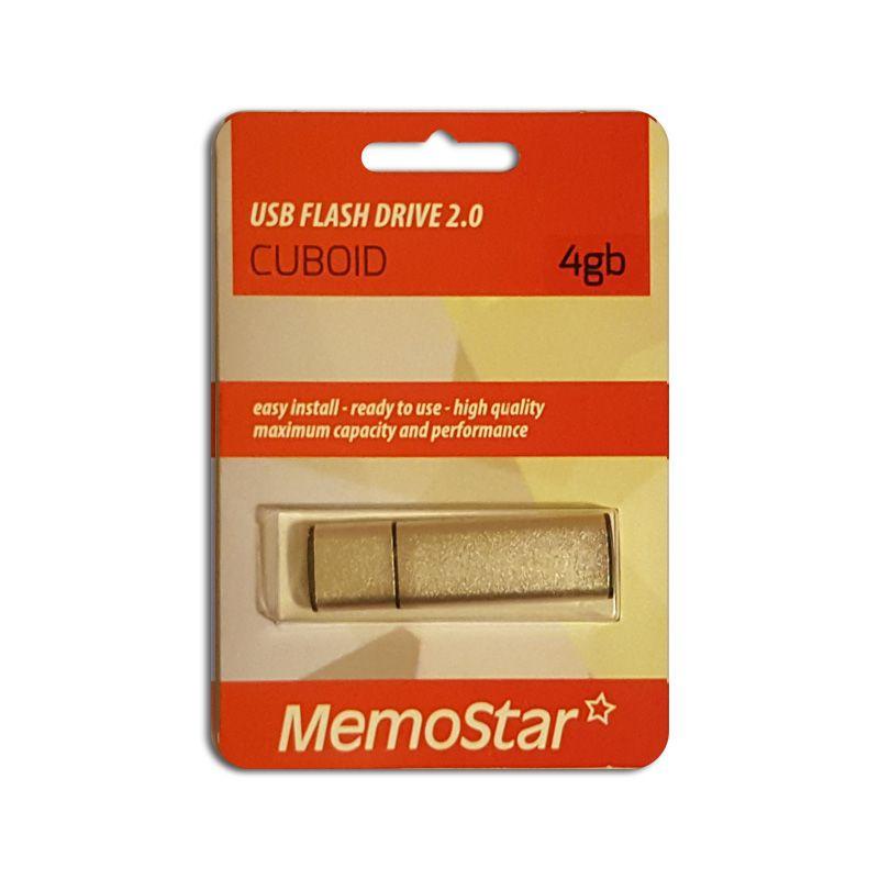 Usb Flash disk Memostar Cuboid 4GB, srebrni