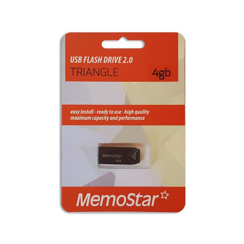 Usb flash disk Memostar Triangle 4GB, crni